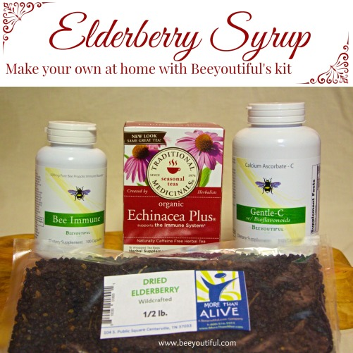 Make your own elderberry syrup with Beeyoutiful's kit