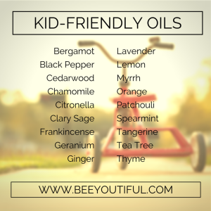 Kid-Friendly Essential Oils from Beeyoutiful.com
