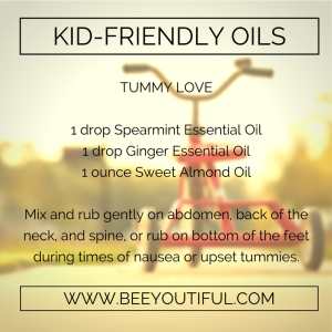 Tummy Love Kid-Friendly Essential Oils from Beeyoutiful.com