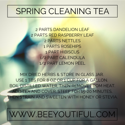 spring cleaning herbal tea from Beeyoutiful.com