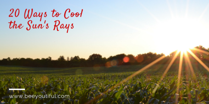20 Ways to Cool the Sun's Rays from Beeyoutiful.com