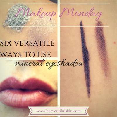 #MakeupMonday: Six Versatile Ways To Use Mineral Eyeshadow from BeeyoutifulSkin.com