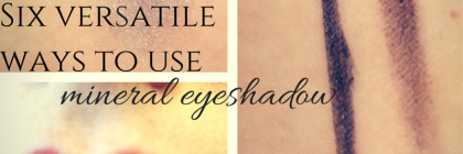 six Versatile Ways To Use Mineral Eyeshadow from BeeyoutifulSkin.com