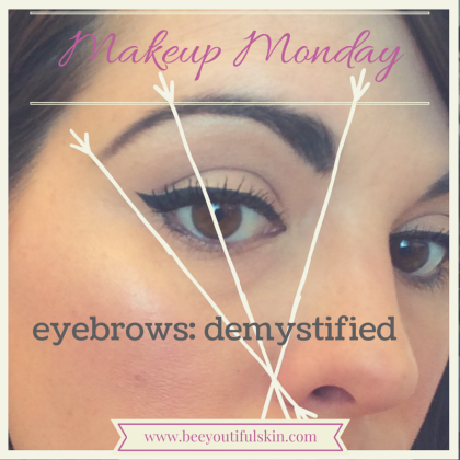 #MakeupMonday: Eyebrows, Demystified! from BeeyoutifulSkin.com