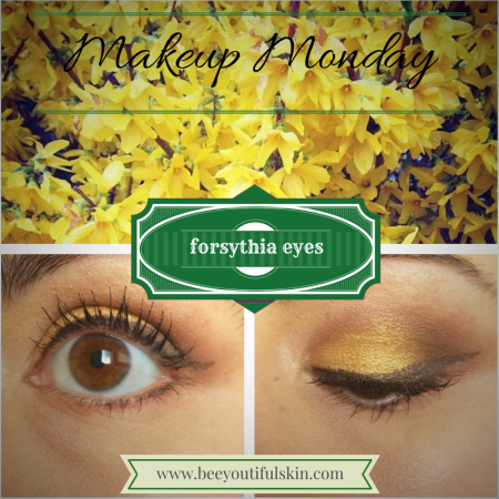 forsythia eyes nature-inspired makeup tutorial from BeeyoutifulSkin.com