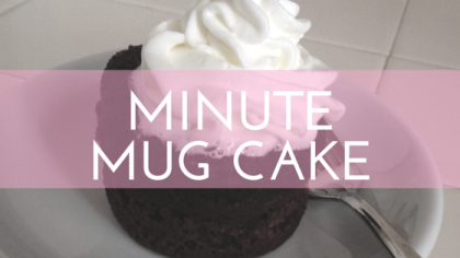 #FoodieFriday: Minute Mug Cake Recipe (Grain-free, Gluten-free, Refined Sugar-free) from Beeyoutiful.com