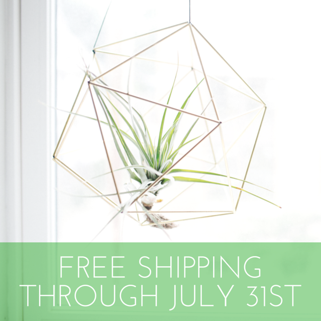 Free Shipping Through July 31st