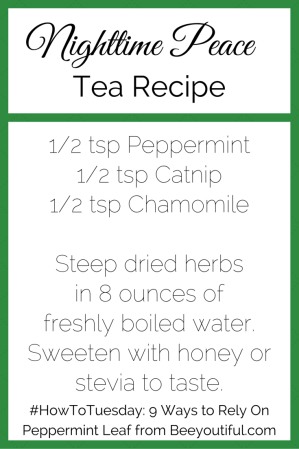 #HowToTuesday- 9 Ways to Rely On Peppermint Leaf from Beeyoutiful.com