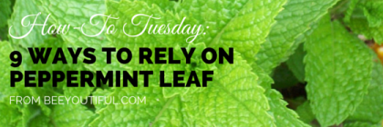 #HowToTuesday: 9 Ways to Rely On Peppermint Leaf from Beeyoutiful.com