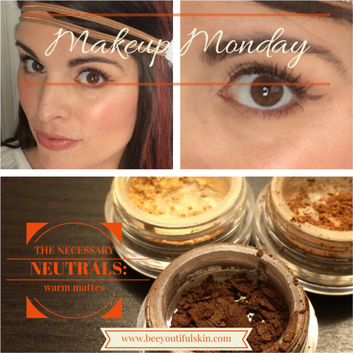 #MakeupMonday: Necessary Neutrals (Warm Mattes) from BeeyoutifulSkin.com