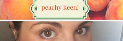 #MakeupMonday: Peachy Keen! From Beeyoutifulskin.com