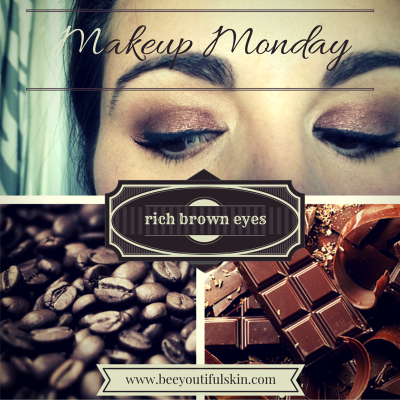 #MakeupMonday: rich brown eyes from BeeyoutifulSkin.com
