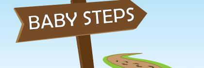 header baby steps